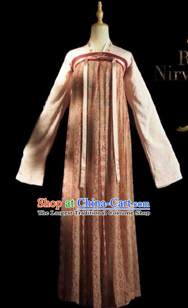Chinese Ancient Court Maid A Bao Costume Historical Drama Royal Nirvana Lu Wenxi Song Dynasty Hanfu Dress for Women