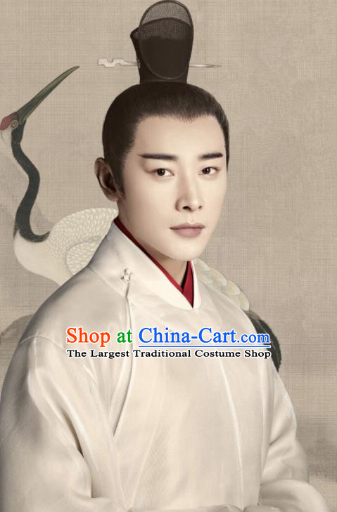 Historical Drama Royal Nirvana Chinese Ancient Prince Xiao Dingquan Song Dynasty Costume and Headpiece for Men