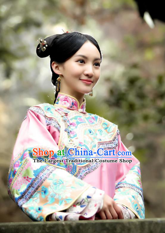 Chinese Ancient Drama WuXin The Monster Killer Qing Dynasty Noble Lady Li Yueya Costume and Headpiece for Women