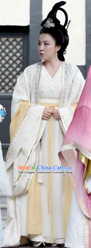 Chinese Ancient Queen Dowager Hanfu Dress Drama Legend of Yun Xi Costume and Headpiece for Women