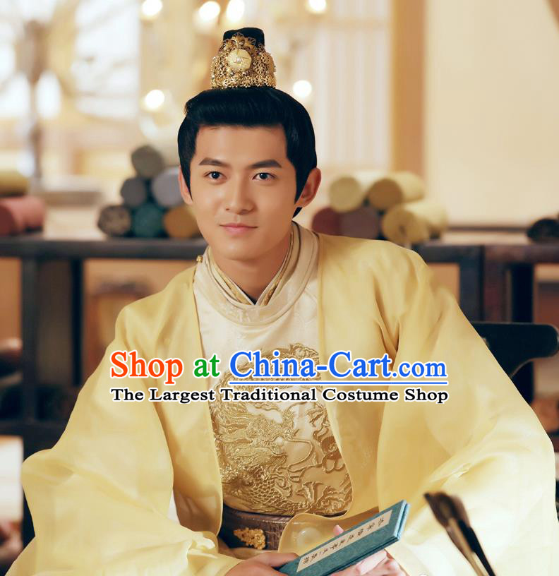 Chinese Ancient Crown Prince Ren Sheng Clothing Historical Drama Colourful Bone Costume and Headpiece for Men