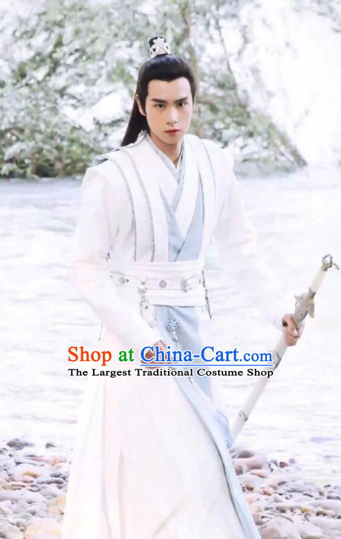Chinese Ancient Childe Swordsman Hua Wuque Clothing Historical Drama Handsome Siblings Costume for Men