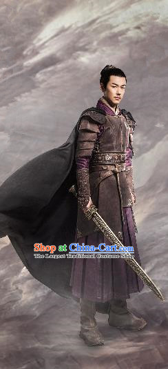 Chinese Ancient General Baili Hongyi Clothing Historical Drama Guardians of The Ancient Oath Costume for Men