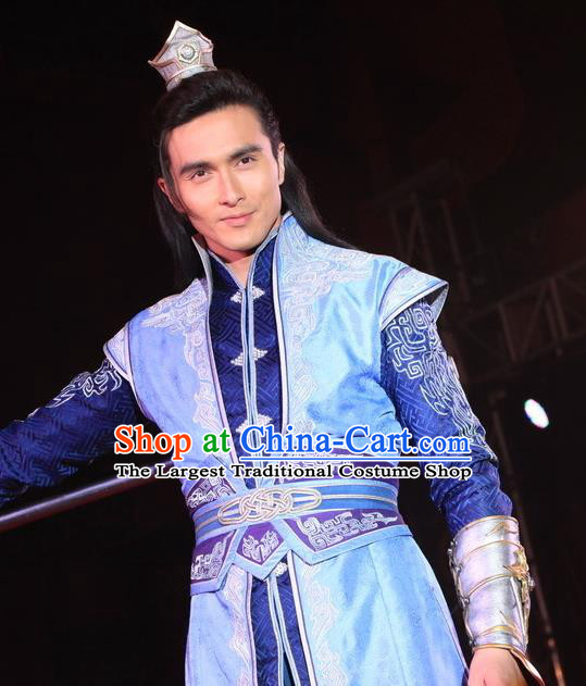 Chinese Ancient Swordsman Dan Chenzi Clothing Historical Drama The Legend of Zu Costume for Men