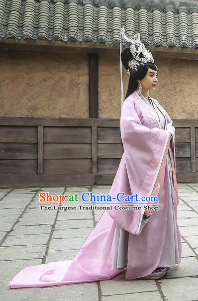 Chinese Historical Drama Swords of Legends Ancient Imperial Consort Shu Costume and Headpiece for Women