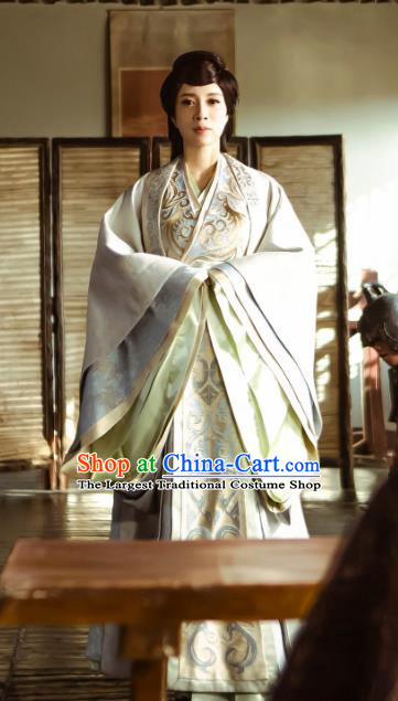 Chinese Historical Drama Swords of Legends Ancient Concubine Shu Costume and Headpiece for Women