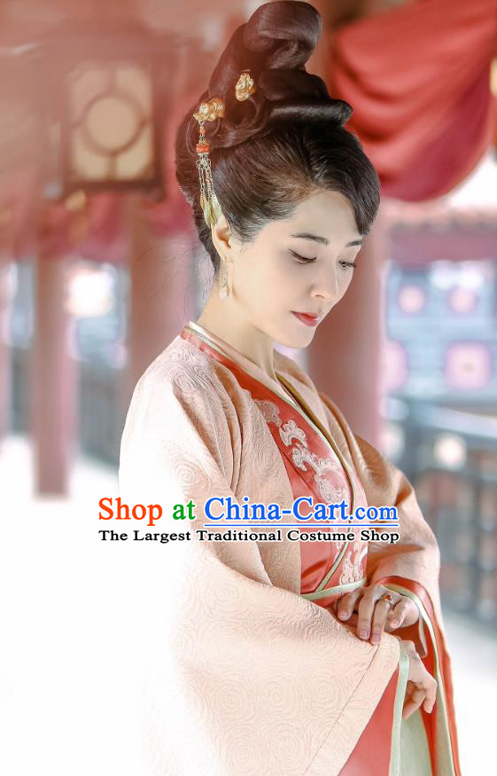 Chinese Historical Drama Swords of Legends Ancient Female Swordsman Fu Qingjiao Costume and Headpiece for Women