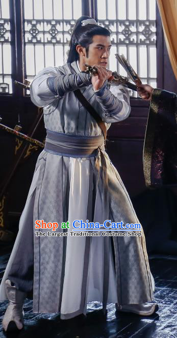Swords of Legends Chinese Ancient Prince Xia Yize Clothing Historical Drama Costume and Headwear for Men