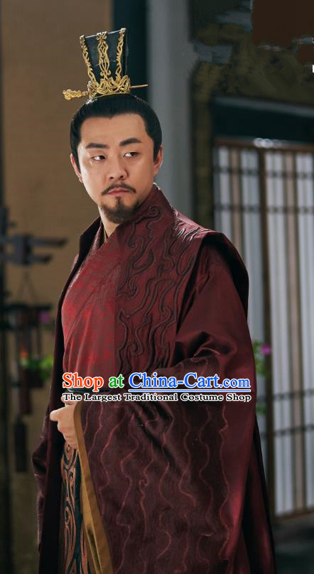 Chinese Drama Princess Silver Ancient Prince Zongzheng Xuanming Historical Costume and Headwear for Men