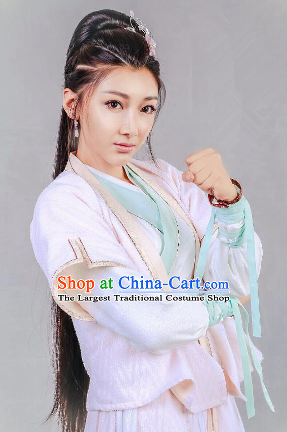 Chinese Historical Drama Swords of Legends Ancient Fairy A Ruan Costume and Headpiece for Women