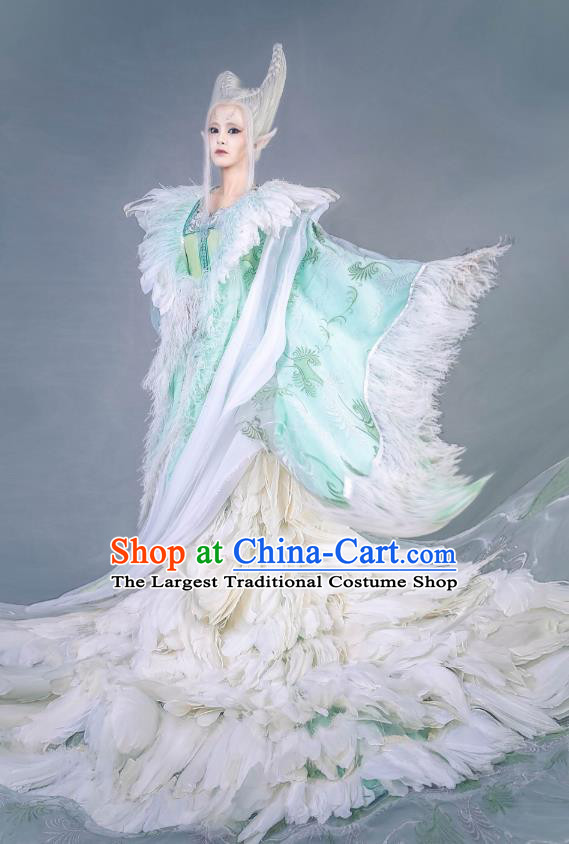Chinese Historical Drama Swords of Legends Ancient Fairy Princess Xue Ji Costume and Headpiece for Women