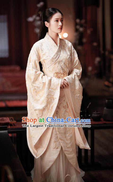Chinese Ancient Royal Princess Rong Le Historical Drama Princess Silver Costume and Headpiece for Women