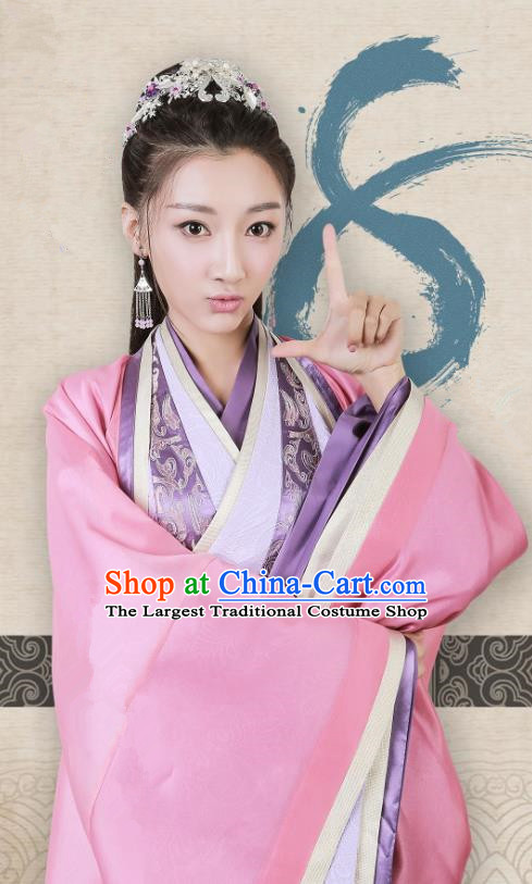 Chinese Historical Drama Swords of Legends Ancient Royal Princess Costume and Headpiece for Women