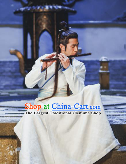 Swords of Legends Chinese Ancient Swordsman Xia Yize Clothing Historical Drama Costume and Headwear for Men