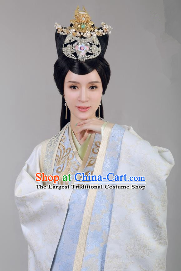 Chinese Historical Drama Swords of Legends Ancient Royal Concubine Shu Costume and Headpiece for Women