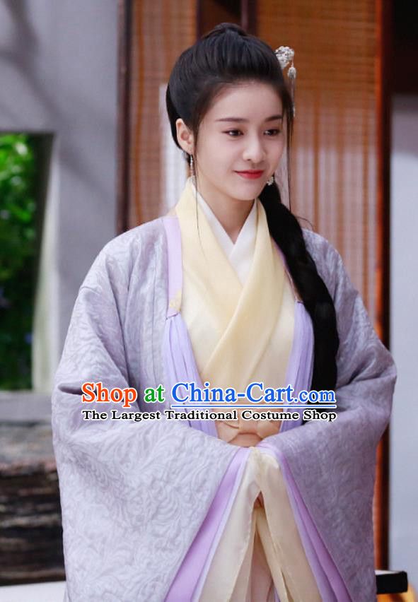 Chinese Drama Princess Silver Ancient Teahouse Hostess Man Yao Historical Costume and Headwear for Women