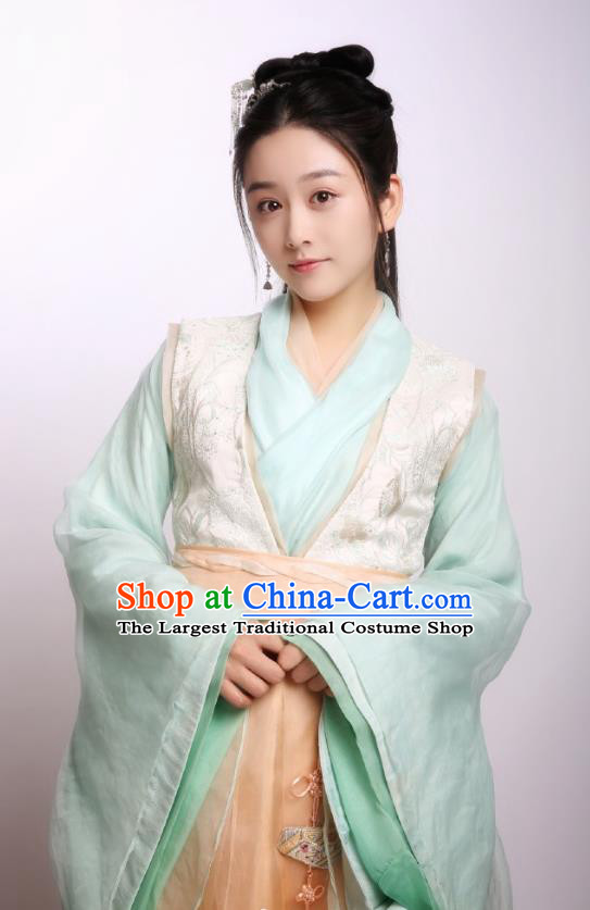 Chinese Ancient Drama Princess Silver Zhao Yun Historical Costume and Headpiece for Women