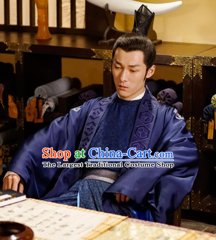 Drama An Oriental Odyssey Chinese Ancient Tang Dynasty Swordsman Constable Zhao Lanzhi Costume and Headpiece Complete Set