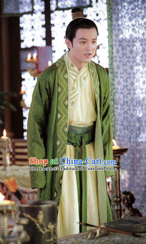 Drama An Oriental Odyssey Chinese Ancient Tang Dynasty Emperor Li Zhi Costume and Headpiece Complete Set