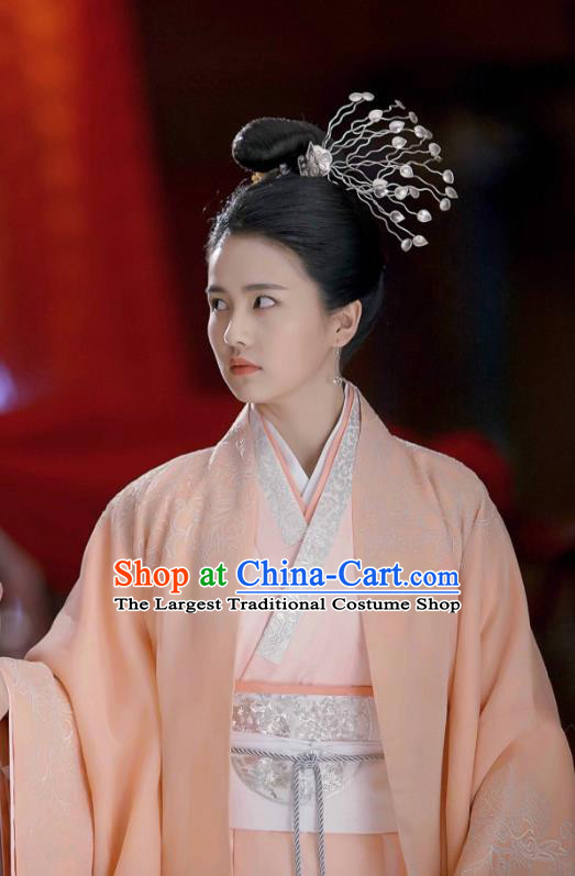 Chinese Ancient Zhou Dynasty Queen Hanfu Dress Historical Drama King Is Not Easy Empress Da Xi Costumes and Headpiece