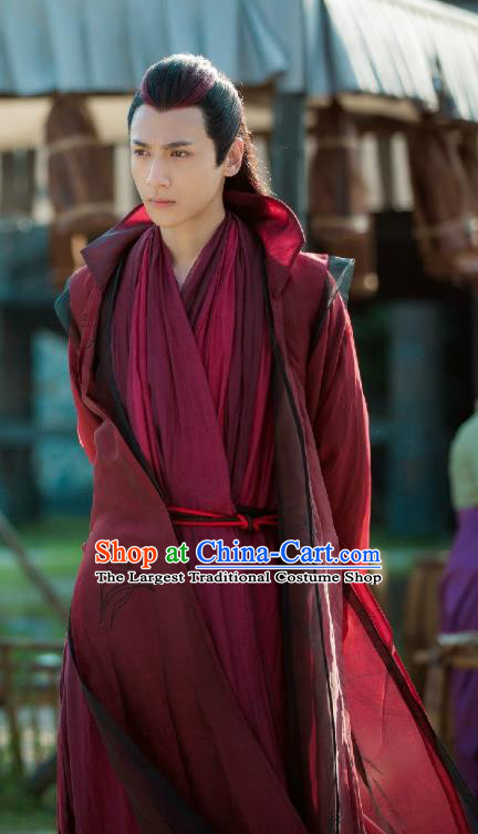 Chinese Ancient Lord Apparel Clothing and Jade Hairpin Drama Pingli Fox Yu Yan Costumes and Headwear