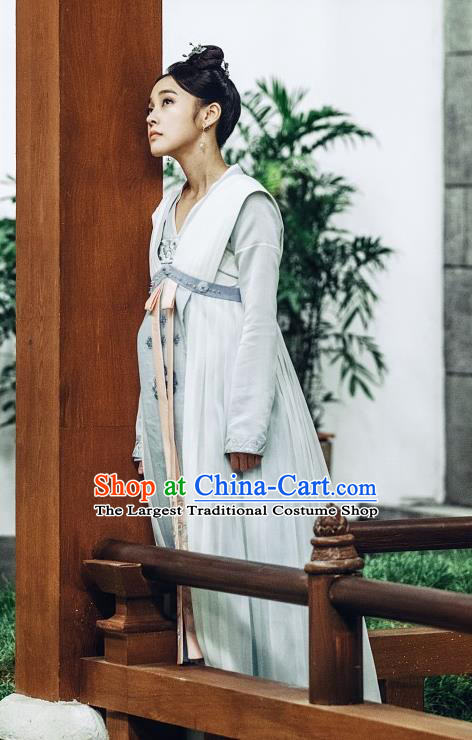 Chinese Ancient Court Lady Historical Costumes and Headwear Drama Tang Dynasty Tour Princess Li Anlan Hanfu Dress