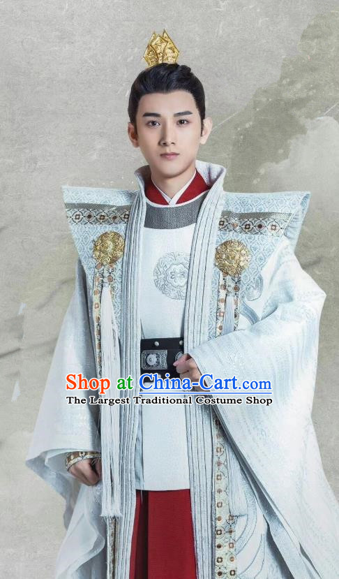 Chinese Ancient Prince Clothing and Headwear Drama Tang Dynasty Tour Crown Prince Li Chengqian Costumes