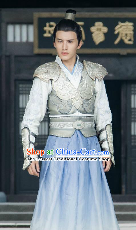 Chinese Ancient Taoist Armor Clothing and Hairdo Crown Drama The Taosim Crandmaster Swordsman Kun Lun Costumes