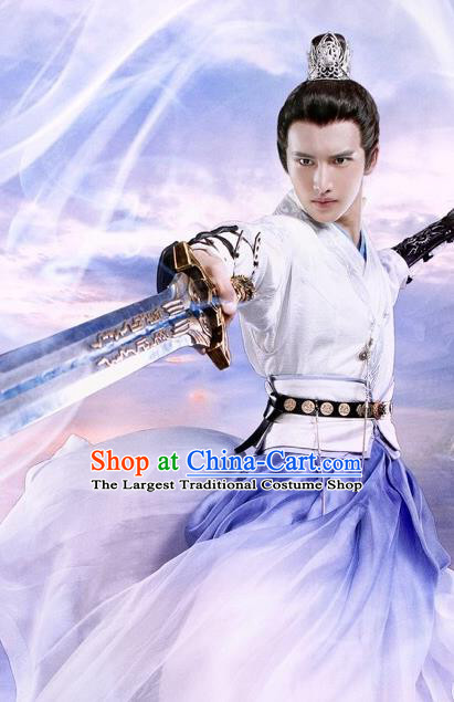 Chinese Ancient Martial Taoist Clothing and Hairdo Crown Drama The Taosim Crandmaster Swordsman Kun Lun Costumes