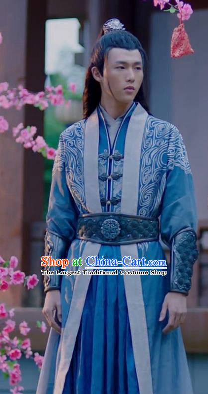 Chinese Ancient Knight Clothing and Headwear Drama Princess at Large Swordsman Nalan Baichuan Costumes for Men