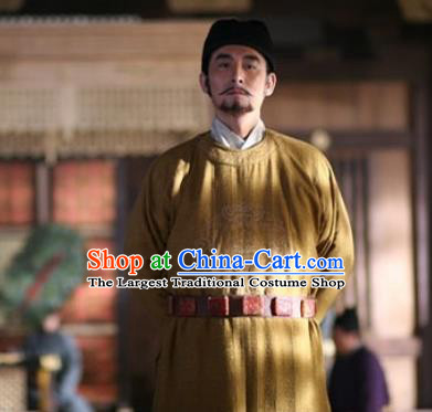 Chinese Ancient Tang Dynasty Apparels Costumes Emperor Garment and Hat Drama Control by Zhen Guan Li Shimin Costume