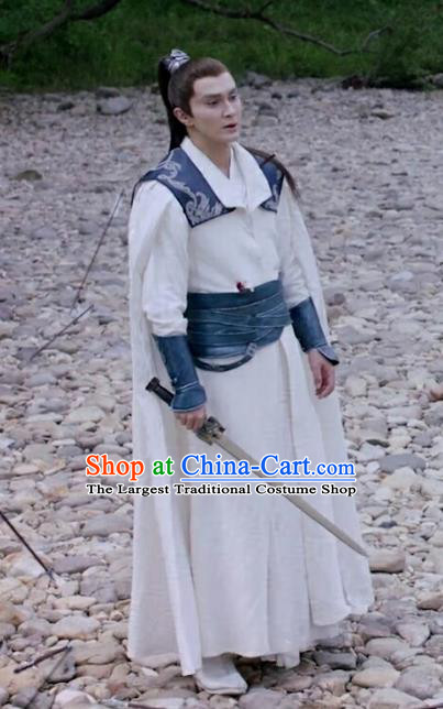 Chinese Ancient Archmage of Biyi Bird Tribe Costumes Drama Eternal Love of Dream Priest Shen Ye Garment Apparels