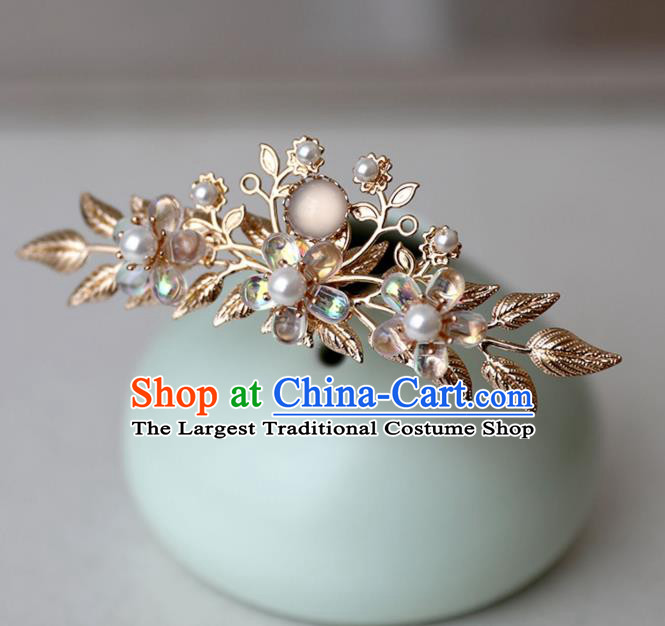 Chinese Ancient Hanfu Golden Hair Clip Women Headwear Hairpin Hair Accessories Hair Crown