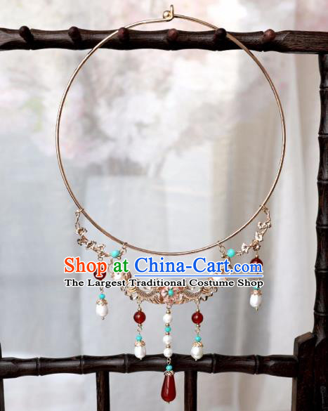 Chinese Ancient Princess Golden Carps Necklace Women Accessories Necklet Jewelry