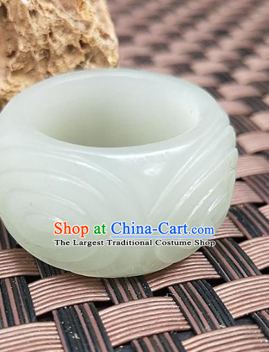 Chinese Ancient Hanfu Jade Ring Finger Annulus Accessories Jade Jewelry