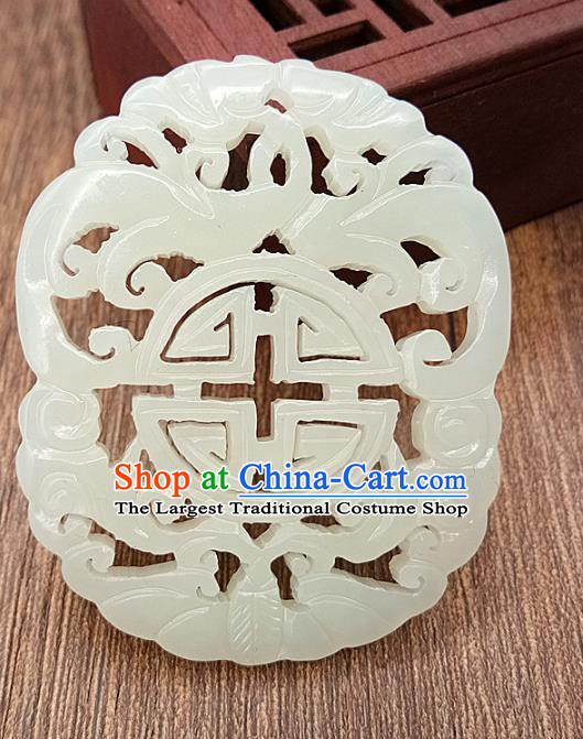 Chinese Handmade Jade Necklace Accessories Handgrip Craft Handmade Jade Jewelry Jade Pendant