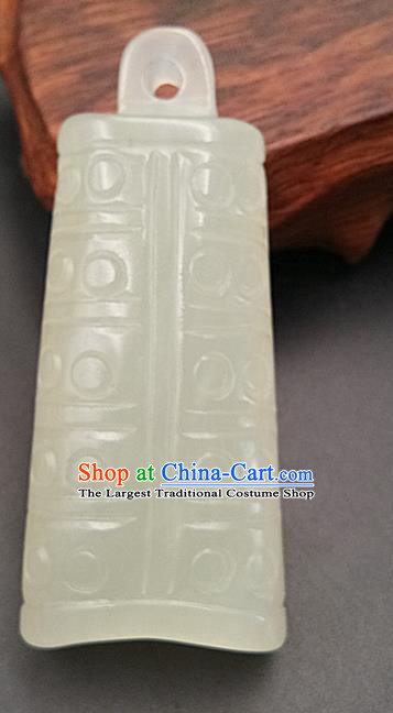Chinese Handmade Jade Necklet Accessories Handgrip Craft Handmade Jade Jewelry Jade Carving Chime Waist Pendant