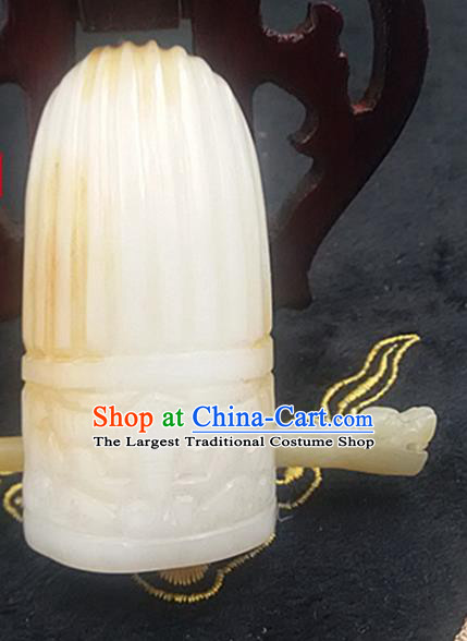 Chinese Ancient Childe Jade Hairdo Crown Hanfu Hair Accessories Hairpin Carving Jade Prince Headwear