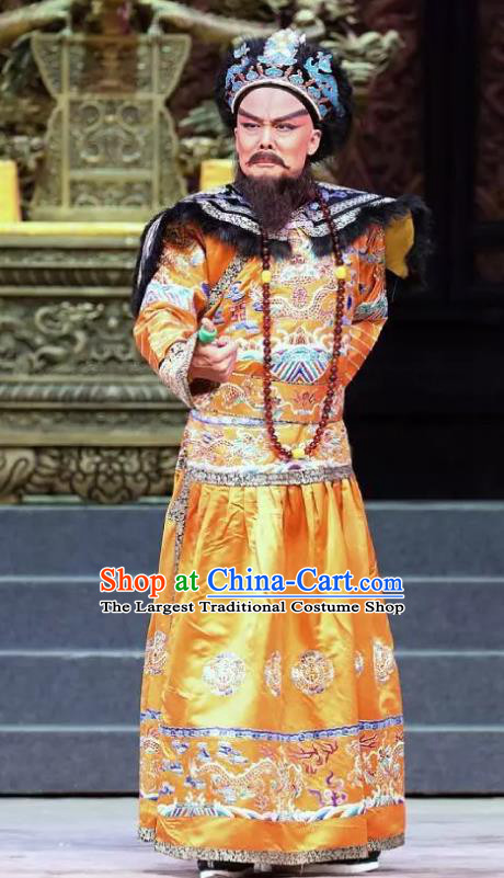 Chinese Cantonese Opera Garment Princess Chang Ping Qing Dynasty Emperor Apparels Costumes and Headwear
