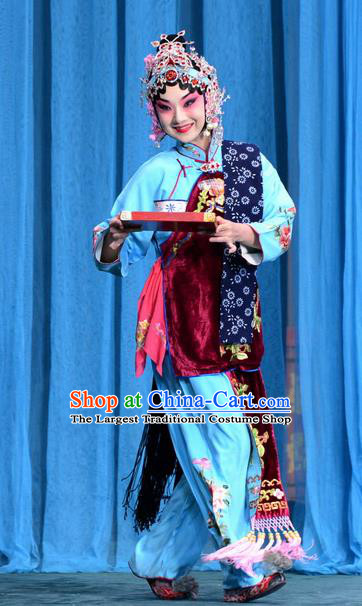 Chinese the Wandering Dragon Toys with the Phoenix Costumes Traditional Peking Opera Apparel Li Fengjie Garment and Headwear
