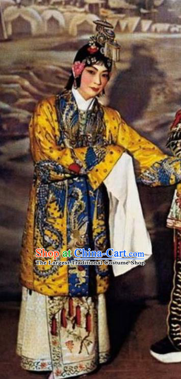 Traditional Chinese Peking Opera Actress Dress Farewell My Concubine Yu Ji Garment Costumes and Headwear