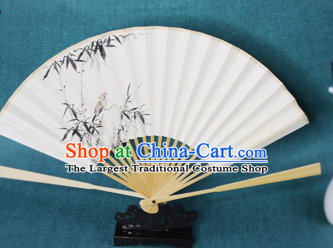 Handmade Chinese Ink Painting Bamboo Paper Fan Traditional Classical Dance Accordion Fans Folding Fan