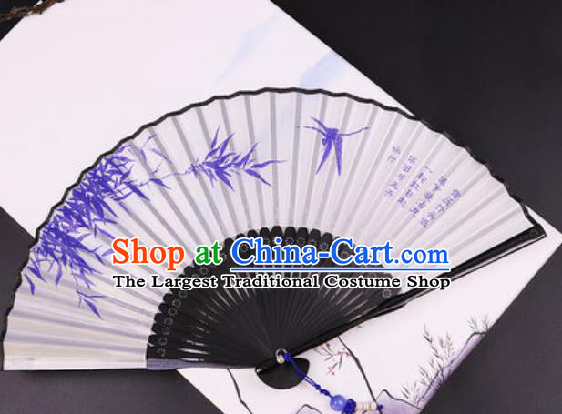 Chinese Traditional Painting Bamboo Silk Fan Classical Dance Accordion Bamboo Fans Folding Fan