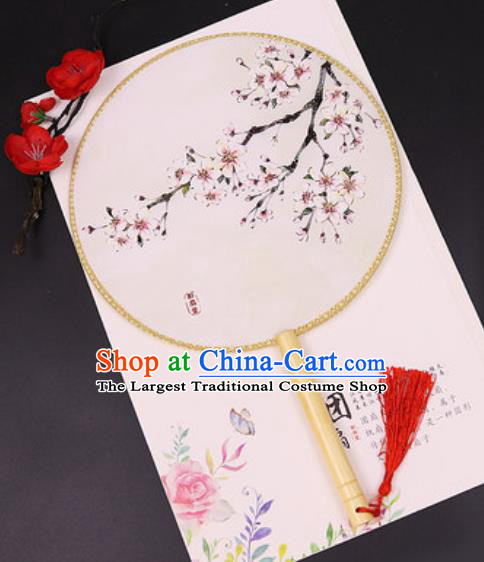 Chinese Traditional Printing Plum Blossom Silk Fans Handmade Classical Dance Palace Fan for Women