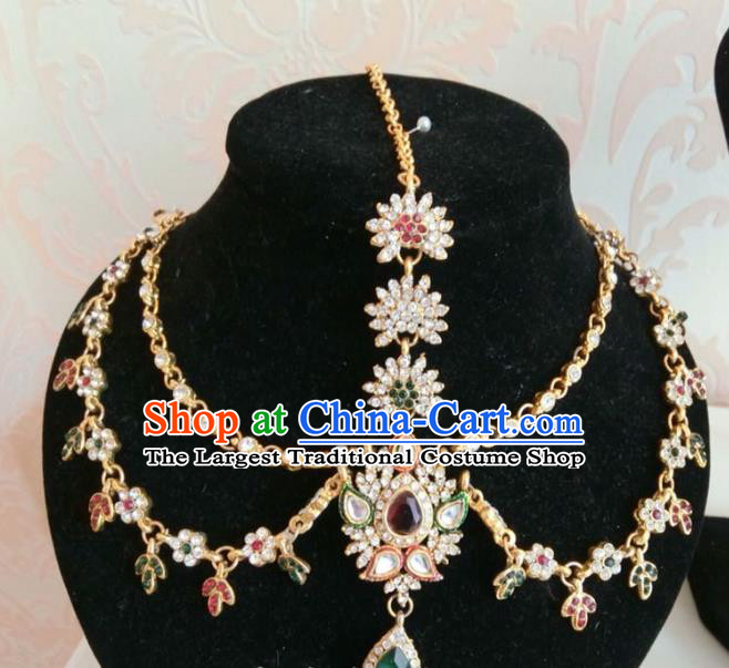 Traditional Indian Court Wedding Eyebrows Pendant Asian India Headwear Jewelry Accessories for Women