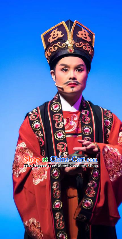 Chinese Yue Opera Apparels and Headwear Shaoxing Opera Young Man Costumes Garment Official Clothing