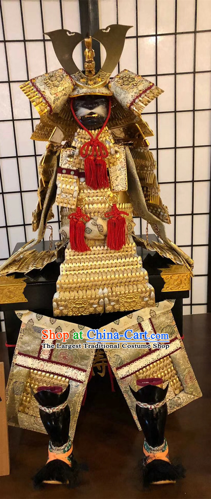 Traditional Japanese Samurai Soldier Armor Suits Cosplay Custom Japan Warrior Apparels Costumes and Helmet
