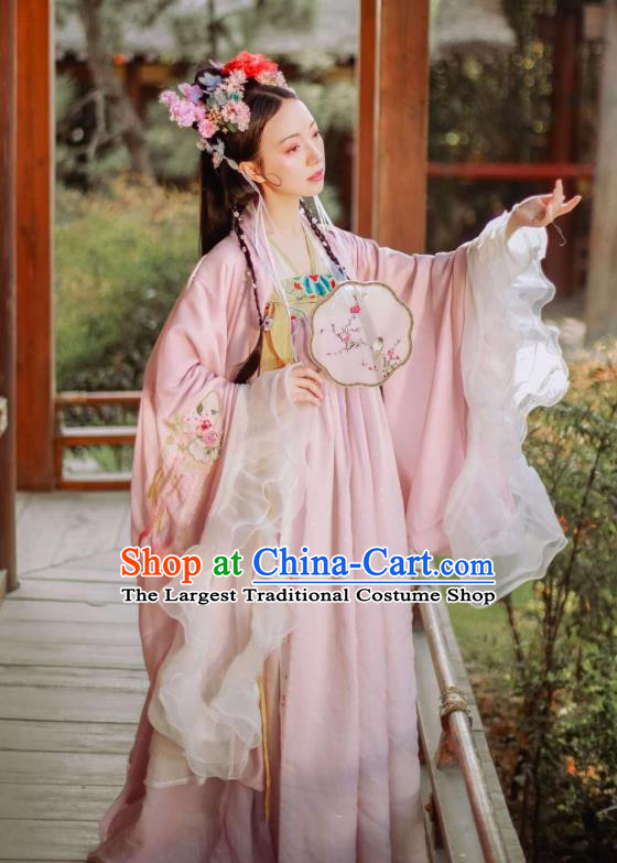 Traditional Chinese Tang Dynasty Royal Princess Historical Costumes Ancient Noble Lady Hanfu Dress Garment