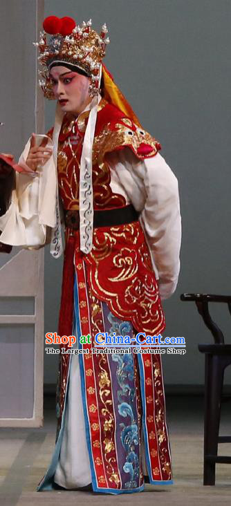 Chinese Classical Kun Opera Young Male Garment and Hat The Purple Hairpin Peking Opera Wusheng Martial Men Costumes