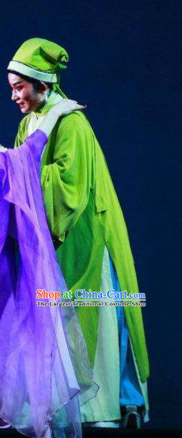 Chinese Yue Opera young Male Garment Apparels and Headwear A Chinese Ghost Story Shaoxing Opera Scholar Ning Caichen Costumes